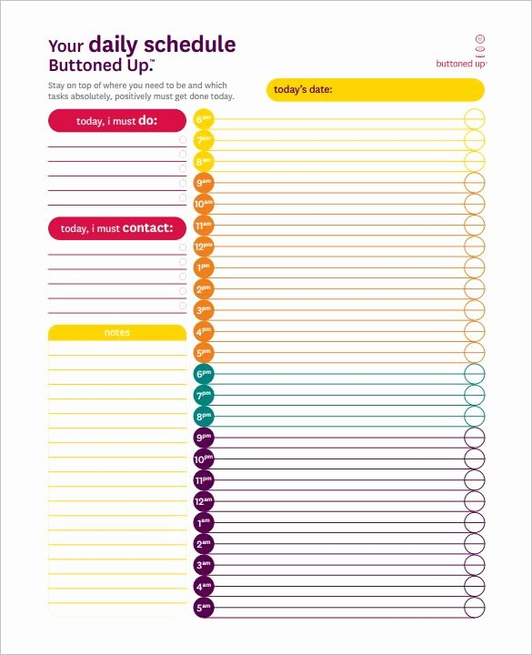 24 Hour Planner Template New 8 Best Planners Images On Pinterest