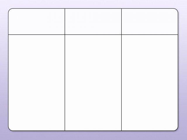 3 Column Chart Template Beautiful Blank Chart 3 Columns