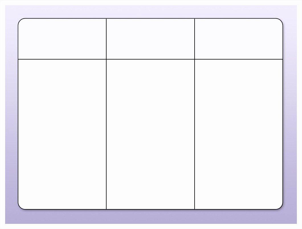 3 Column Chart Template Fresh Blank T Chart Example Mughals