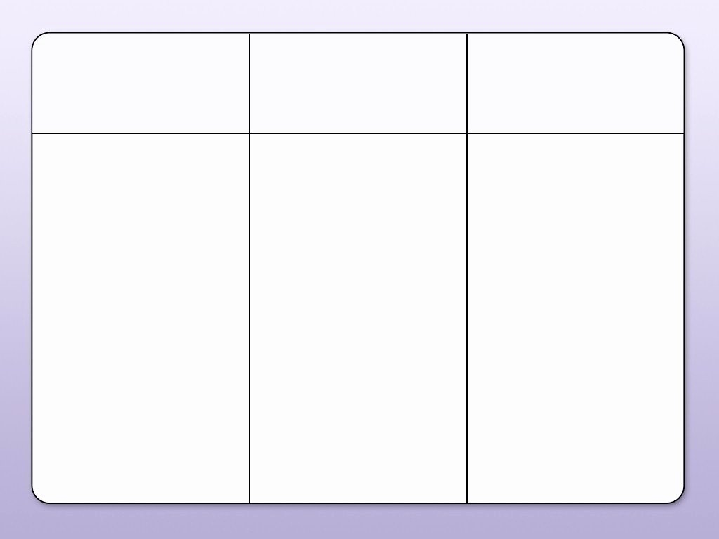 3 Column Chart Template New Blank Table Chart with 3 Columns