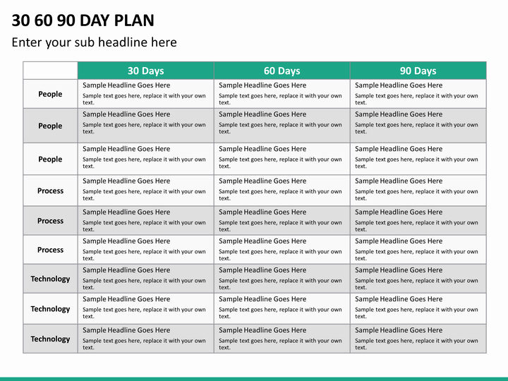 30 Day Plan Template Luxury 30 60 90 Day Plan Powerpoint Template