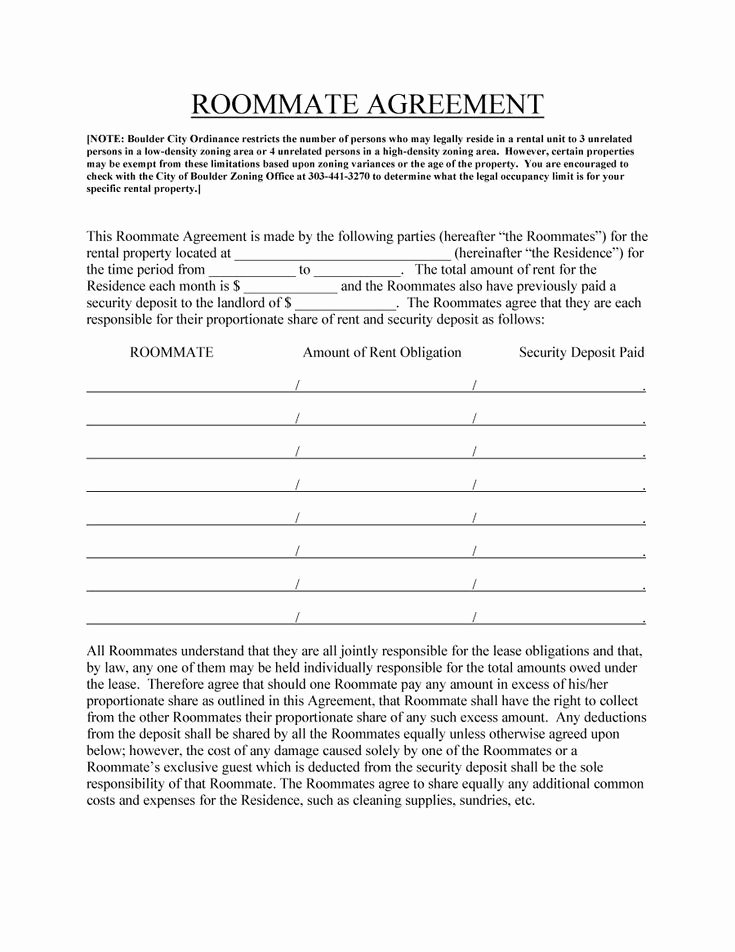 360 Deal Contract Template Fresh 25 Best Ideas About Roommate Agreement On Pinterest