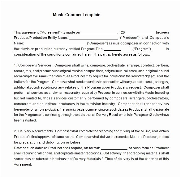 360 Deal Contract Template New 20 Music Contract Templates Word Pdf Google Docs
