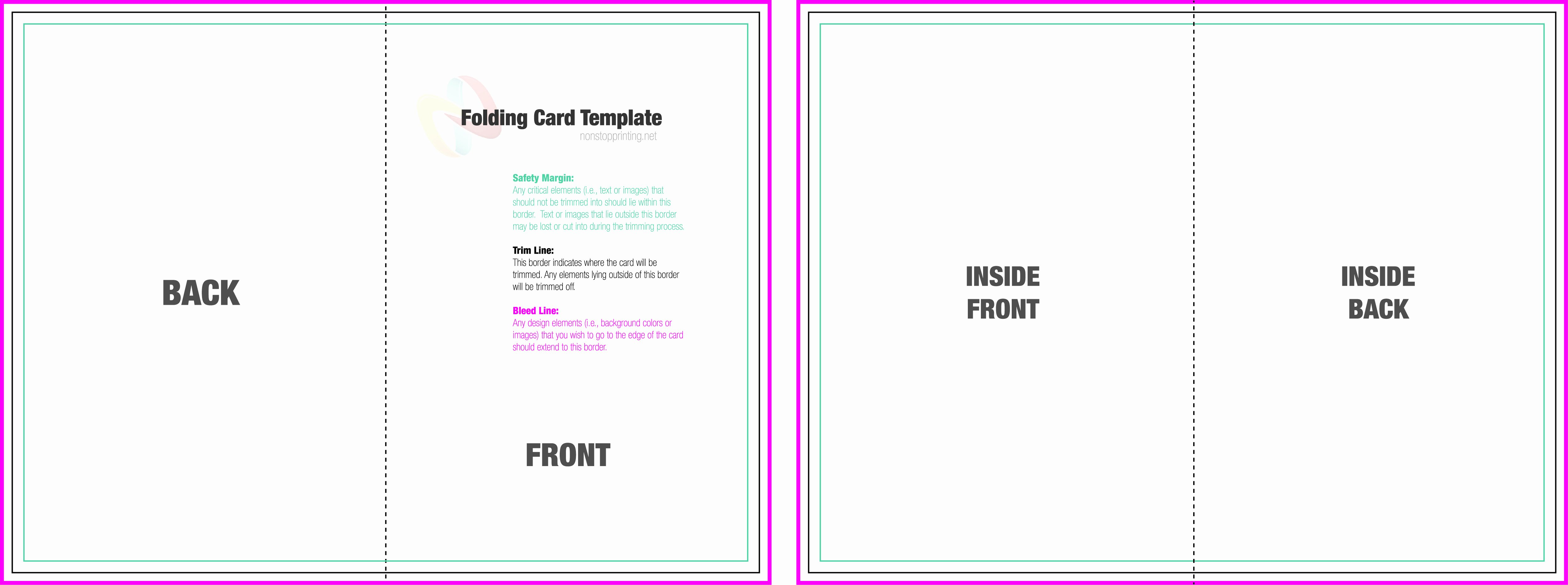 4 Fold Card Template Beautiful Card Folded Cards Template
