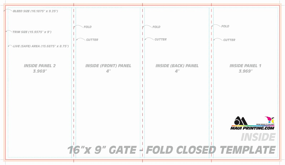 4 Fold Card Template Best Of Blank Four Fold Brochure Template Free Download D