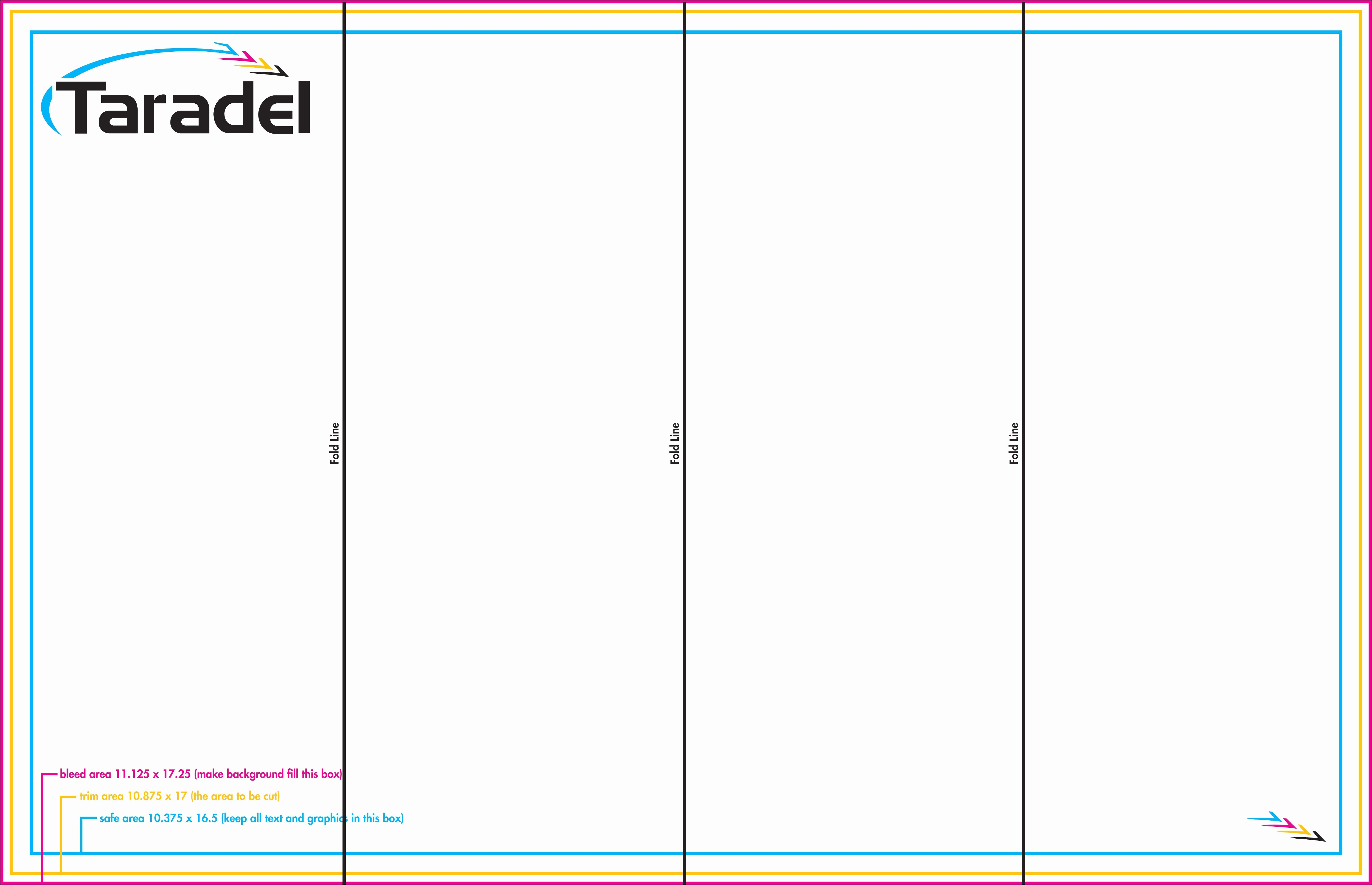 four fold brochure template indesign