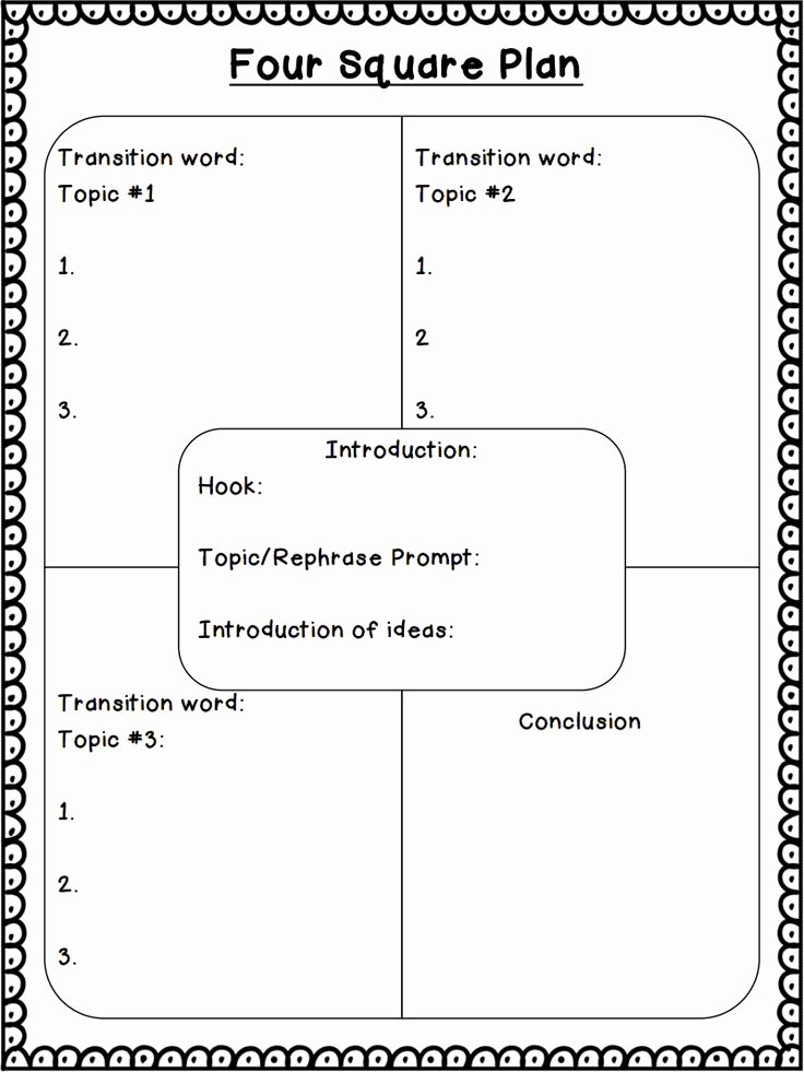 4 Square Writing Template Awesome Best 25 Four Square Writing Ideas On Pinterest