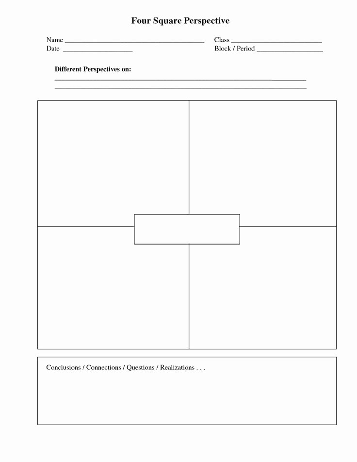 4 Square Writing Template Fresh 1000 Ideas About Four Square Writing On Pinterest