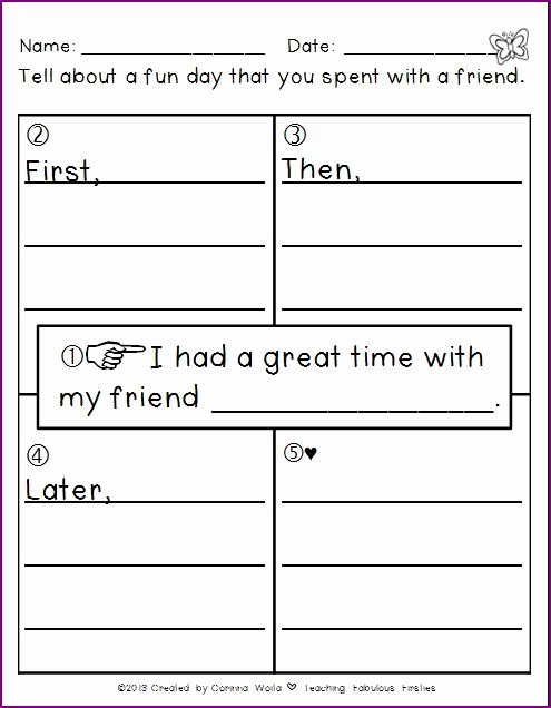 4 Square Writing Template Inspirational ♥teaching Fabulous Firsties and 2nd Grade Smarties ♥