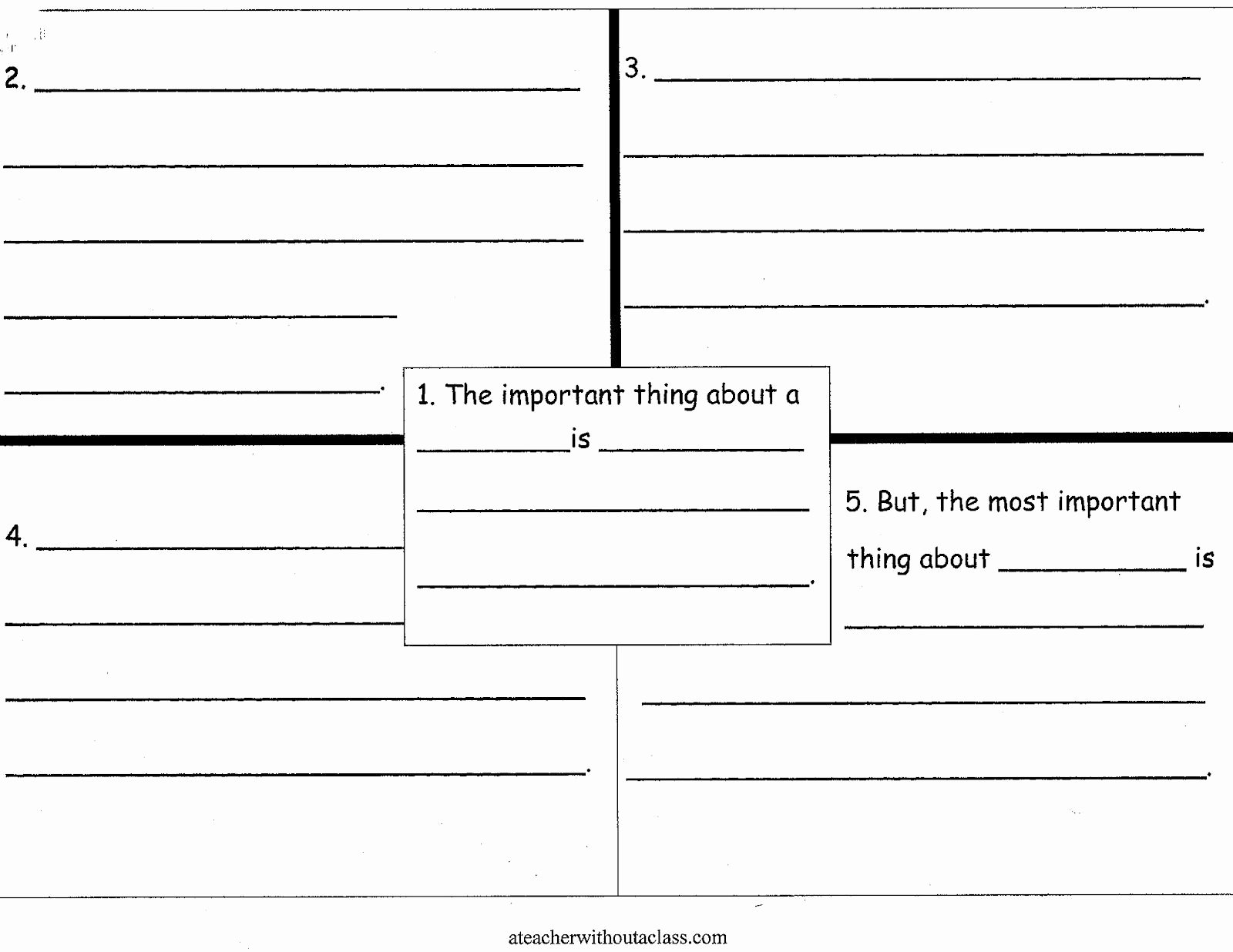 4 Square Writing Template Luxury A Teacher without A Class the Important Book 4 Square