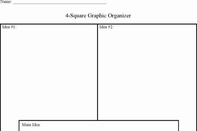 4 Square Writing Template New 2 Four Square Writing Templates Free Download