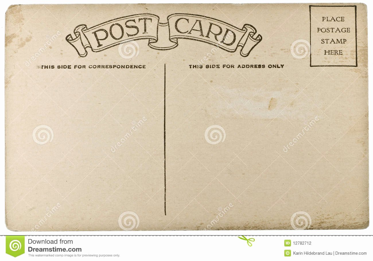 4 Up Postcard Template Fresh Blank Vintage Postcard Stock Graphy Image