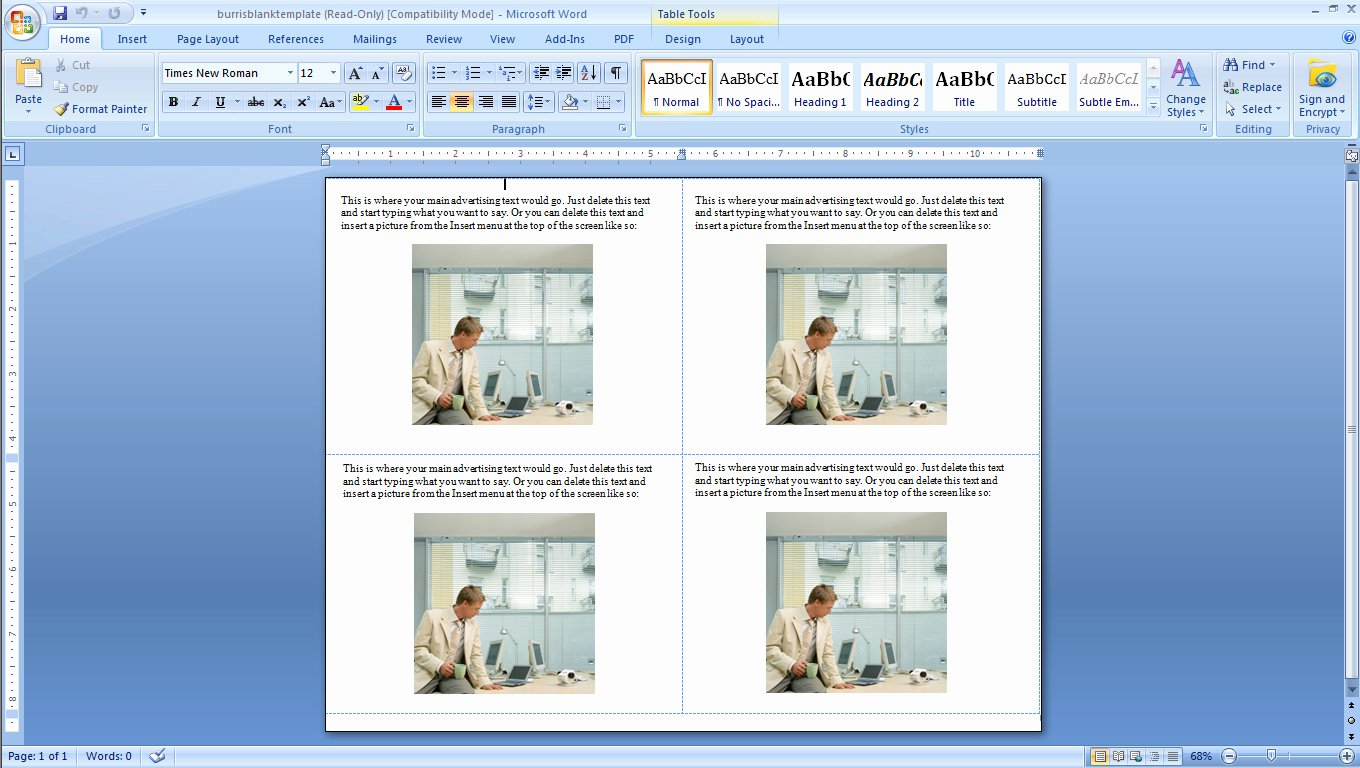 4 Up Postcard Template Lovely How to Make Four Postcards the Same Sheet In Word