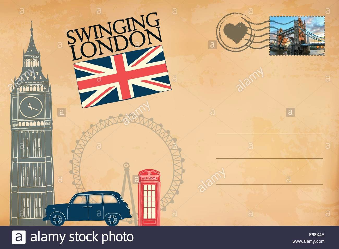 4 Up Postcard Template Lovely London Postcard Stock Alamy