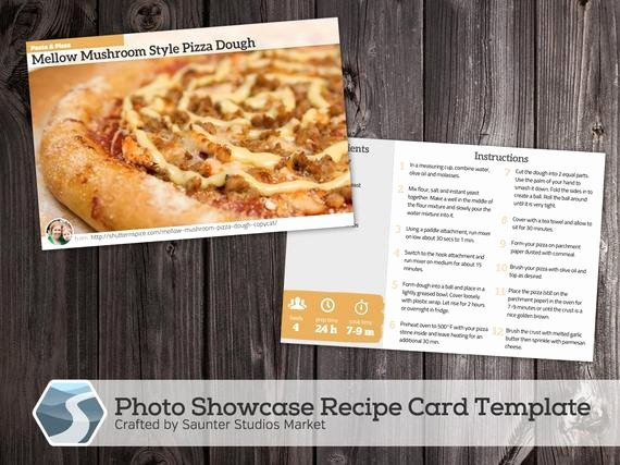 4x6 Postcard Template Photoshop Fresh Showcase Recipe Card 4x6 Printable Shop Template