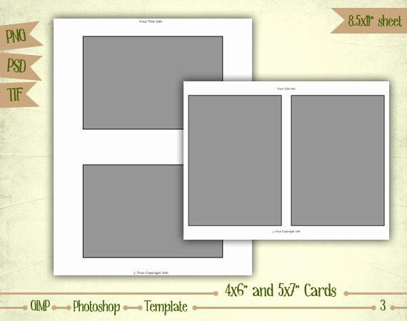 4x6 Postcard Template Photoshop Inspirational Cards 4x6 and 5x7 Digital Collage Sheet