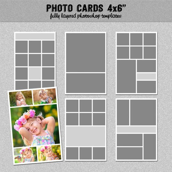4x6 Postcard Template Photoshop Unique 6 Card Templates 4x6 Set 1 Instagram Collage