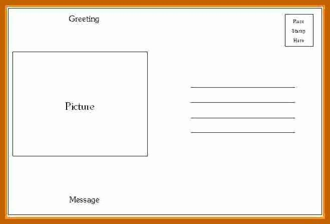 4x6 Postcard Template Word Awesome 7 8 Postcard Template Word