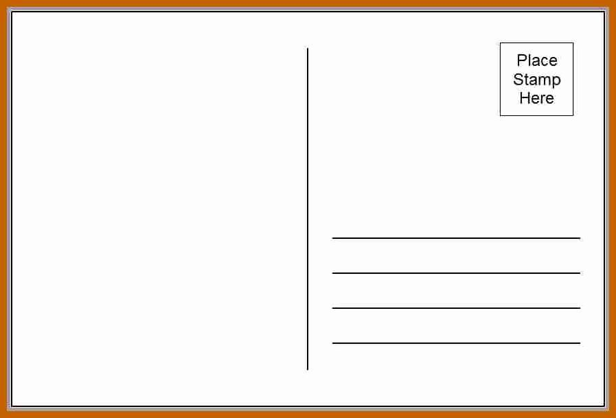 4x6 Postcard Template Word Best Of 7 8 Postcard Template Word