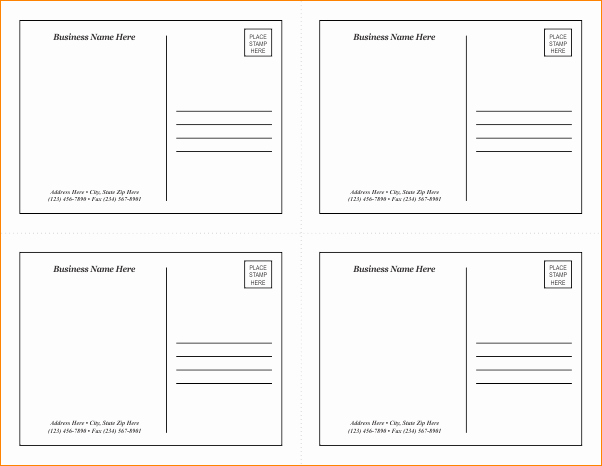 4x6 Postcard Template Word Best Of Microsoft Word 4x6 Postcard Template 4x6 Postcard Template