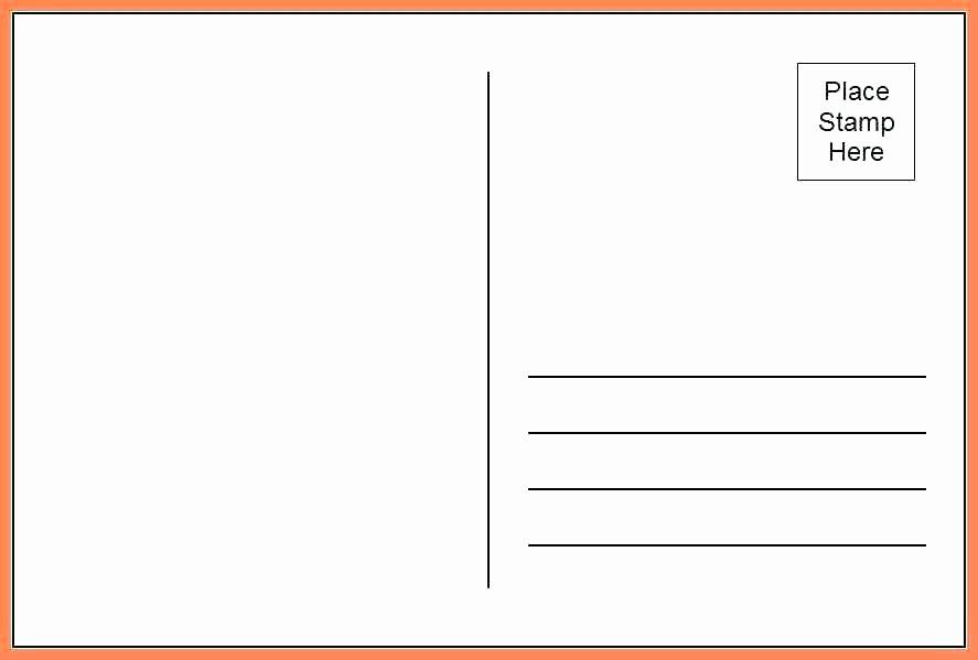 4x6 Postcard Template Word Elegant Free 4×6 Postcard Template – Vitaminacfo