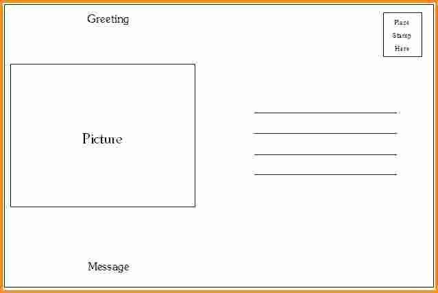 4x6 Postcard Template Word Luxury Microsoft Word 4x6 Postcard Template 4x6 Postcard Template