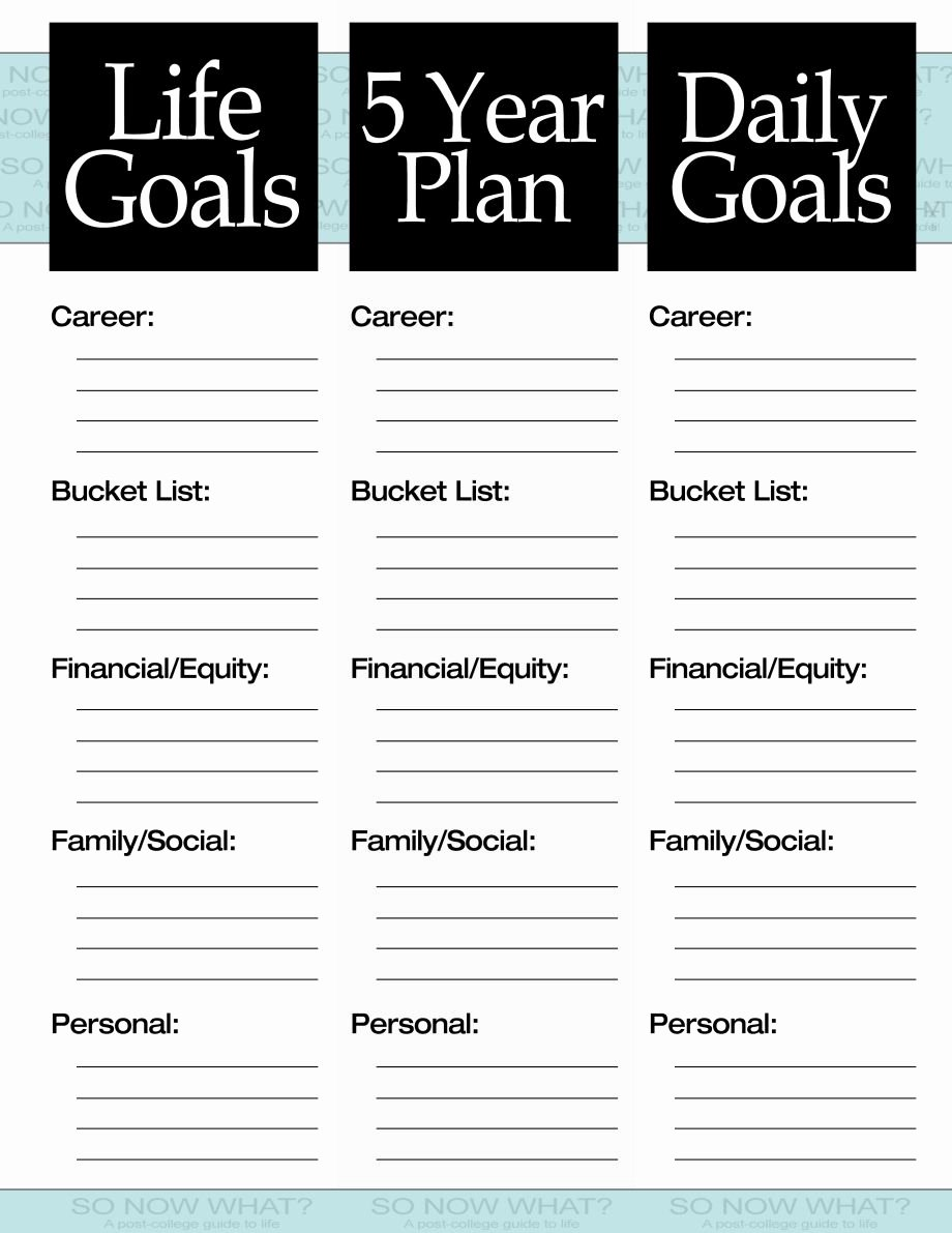 5 Year Plan Template Beautiful the 3 Steps to A 5 Year Plan organize