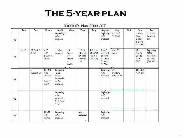 5 Year Plan Template Elegant Five Year Strategic Plan Template – Flybymedia