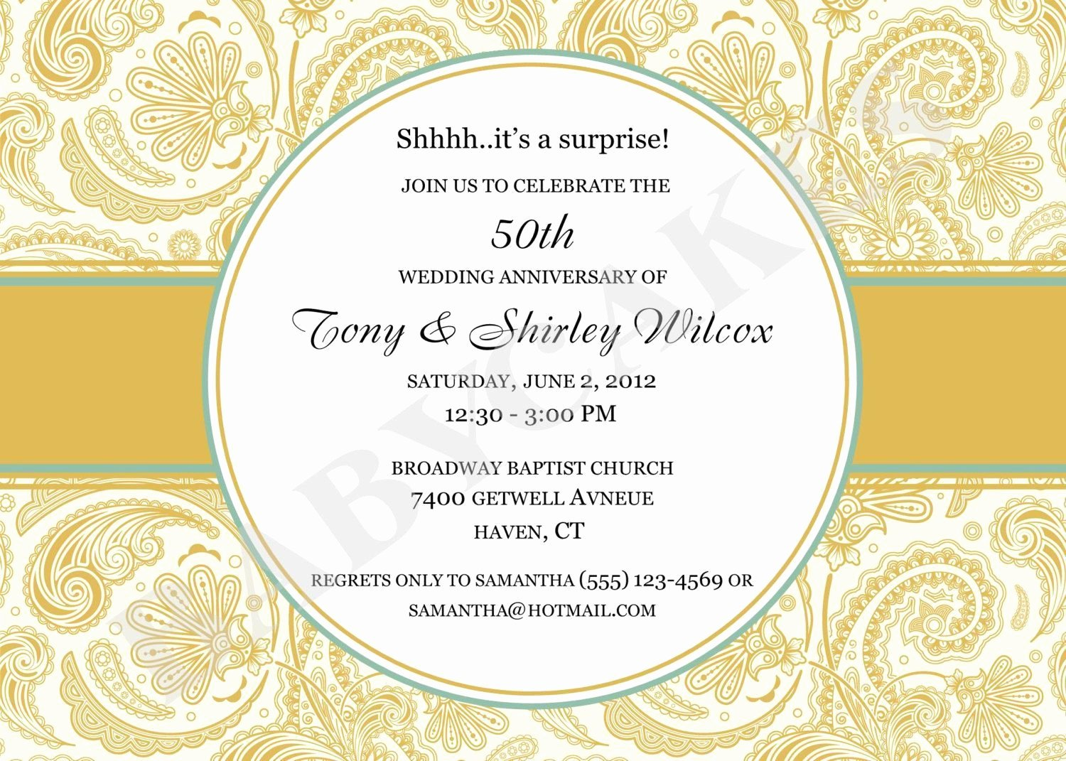 50th Anniversary Invitation Template Awesome 50 Wedding Anniversary Invitation 50th Wedding