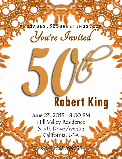50th Anniversary Invitation Template Awesome Blank 50th Birthday Party Invitations Templates
