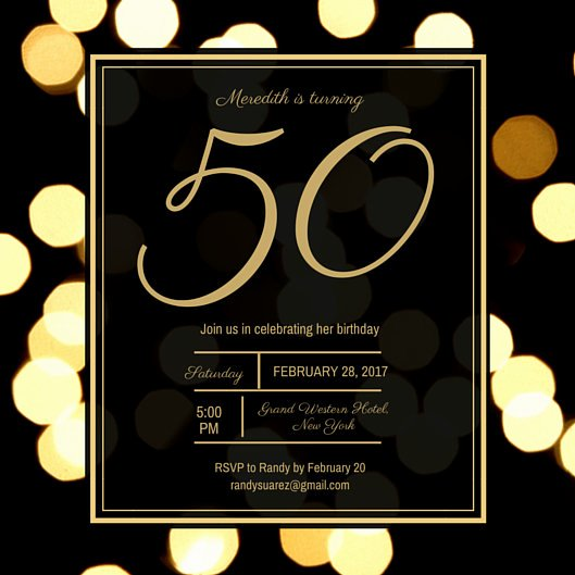 50th Anniversary Invitation Template Awesome Customize 988 50th Birthday Invitation Templates Online