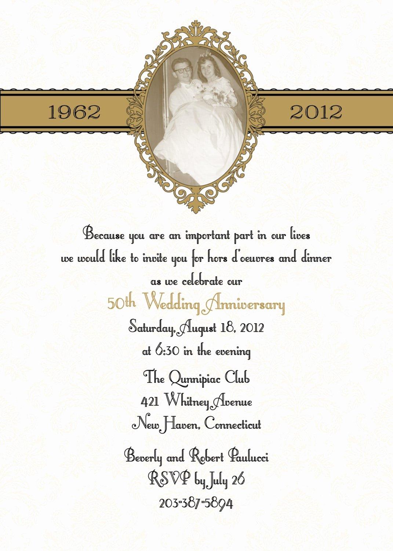50th Anniversary Invitation Template Beautiful 50th Anniversary Invitation Template