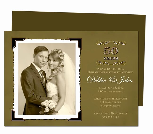 50th Anniversary Invitation Template Best Of Wedding Anniverary Invitation Templates Vintage Golden