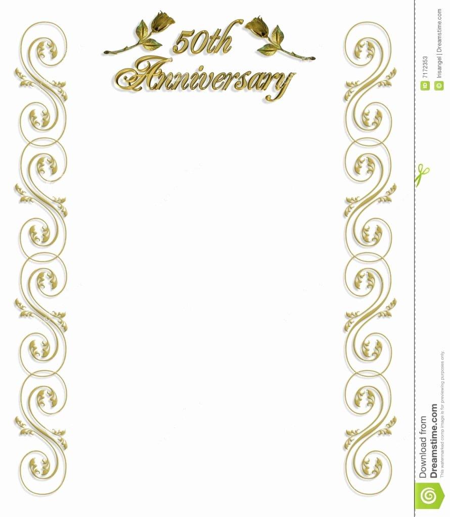 50th Anniversary Invitation Template Elegant 50th Wedding Anniversary Invitations Templates Free