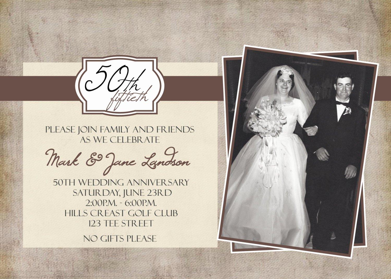 50th Anniversary Invitation Template Fresh 50th Anniversary Party Printable Invitation