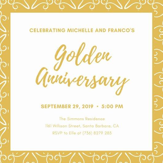 50th Anniversary Invitation Template Fresh Customize 1 796 50th Anniversary Invitation Templates