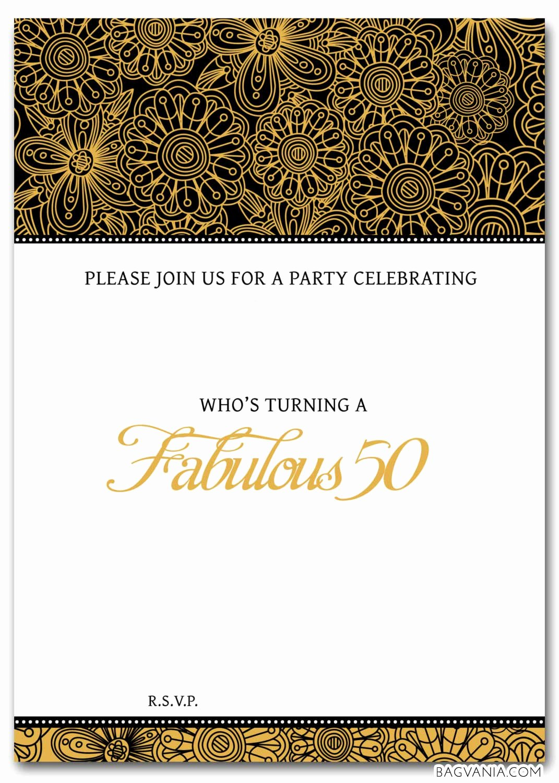 50th Anniversary Invitation Template Fresh Free 50th Birthday Party Invitations Wording – Free