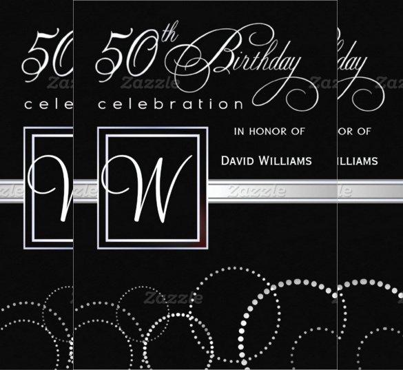 50th Anniversary Invitation Template Inspirational 45 50th Birthday Invitation Templates – Free Sample