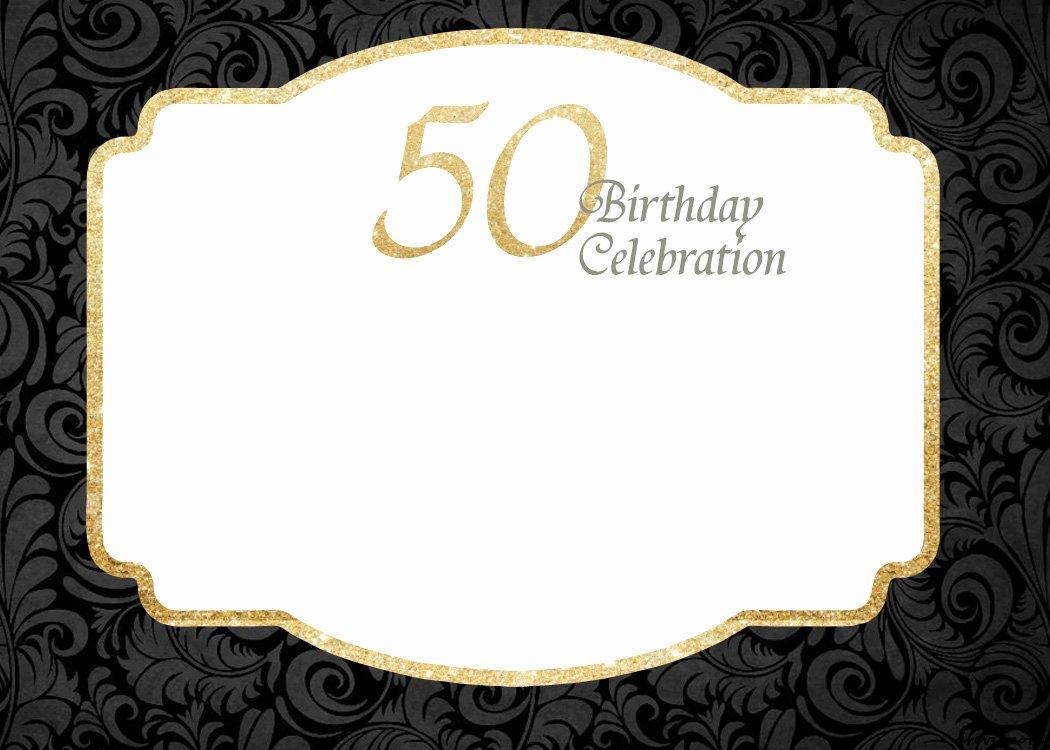 50th Anniversary Invitation Template Inspirational Free Printable 50th Birthday Invitations Template