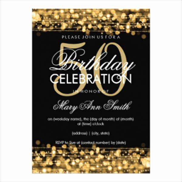 50th Anniversary Invitation Template Luxury Birthday Invitation Templates In Pdf