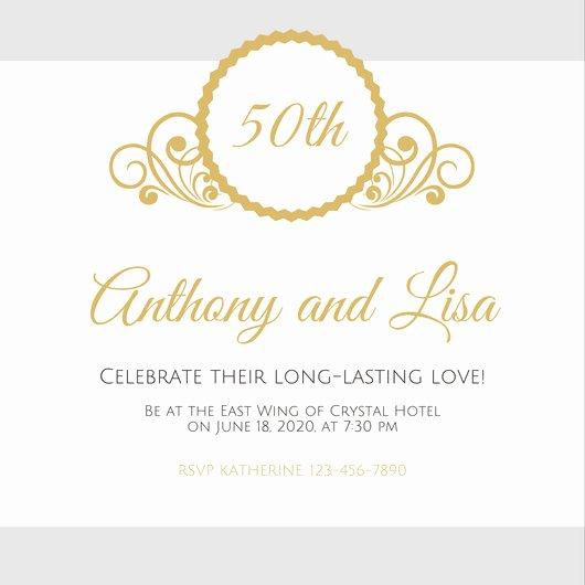 50th Anniversary Invitation Template Luxury Customize 1 796 50th Anniversary Invitation Templates