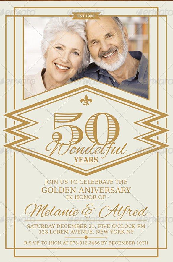 50th Anniversary Invitation Template New 28 Anniversary Invitation Templates Psd Ai Word