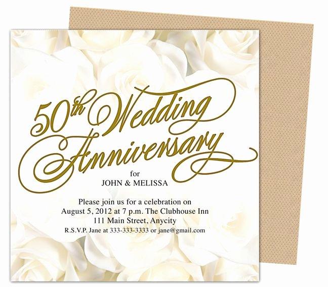 50th Anniversary Invitation Template New 9 Best 25th & 50th Wedding Anniversary Invitations