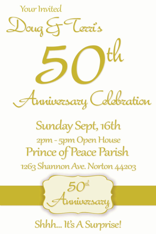 50th Anniversary Invitation Template New Printable 50th Wedding Anniversary Invitations