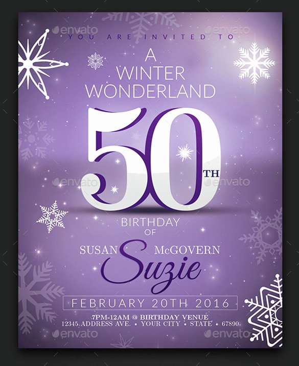 50th Birthday Invitation Template Awesome 22 Birthday Invitation Templates – Free Sample Example