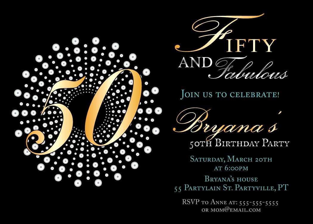 50th Birthday Invitation Template Beautiful 14 50 Birthday Invitations Designs – Free Sample