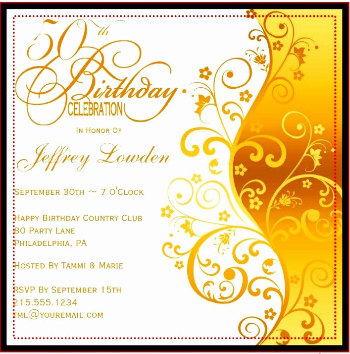 50th Birthday Invitation Template Fresh 50th Birthday Invitation Templates – Happy Holidays