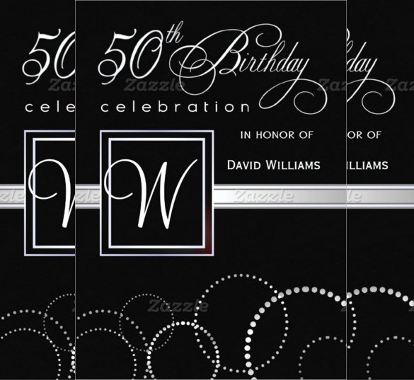 50th Birthday Invitation Template Lovely 45 50th Birthday Invitation Templates – Free Sample