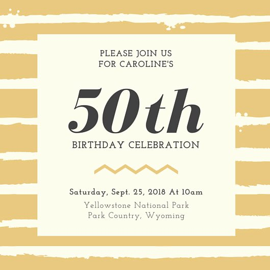 50th Birthday Invitation Template Lovely 50th Birthday Invitation Templates Canva