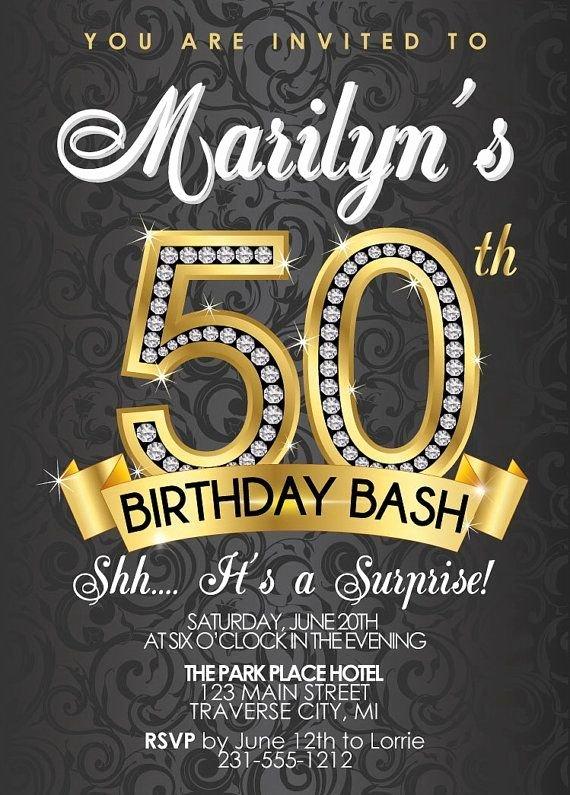 50th Birthday Invitation Template Lovely 50th Birthday Invitations Templates Free